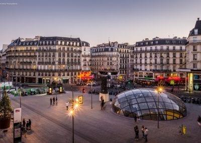 Parvis de la Gare St Lazare – 8ème